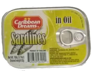 Caribbean Dreams Sardine (In Oil). Image